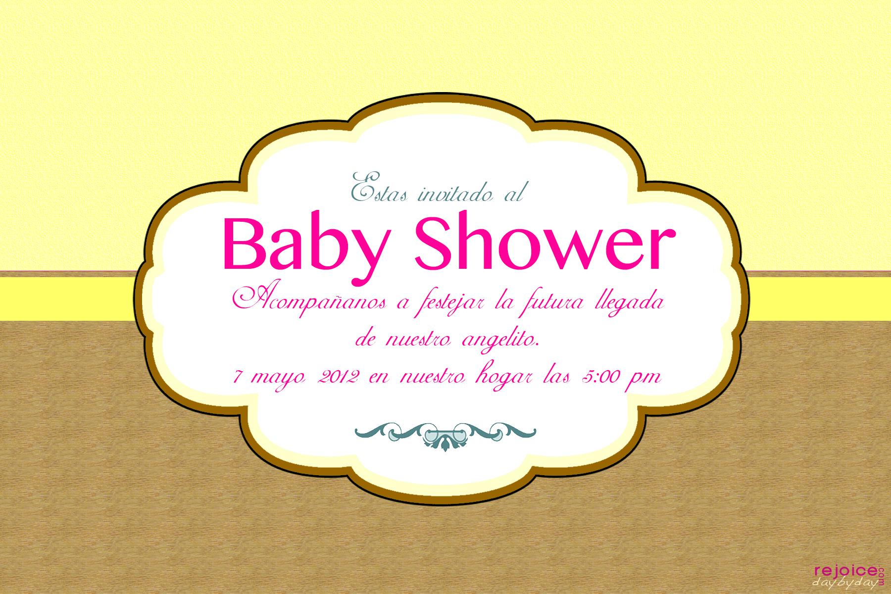 baby shower girl yellow